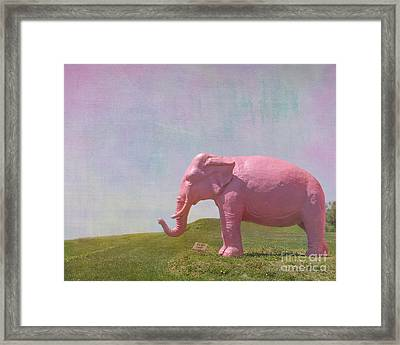 Pink Elephant Framed Print by Kay Pickens