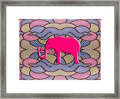 Pink Elephant Framed Print by Patrick J Murphy