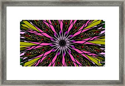 Framed Print featuring the digital art Pink Explosion by Elizabeth McTaggart