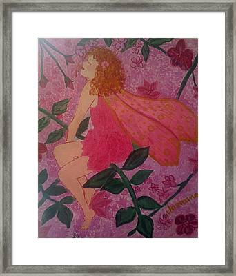 Framed Print featuring the painting Pink Fairy by Judi Goodwin