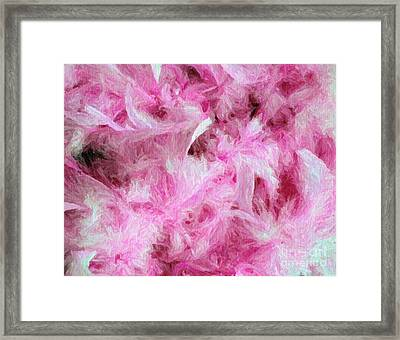 Pink Feathers In Digital Oil Impasto Framed Print by Ed Churchill