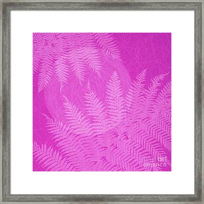 Pink Fern Pattern Framed Print