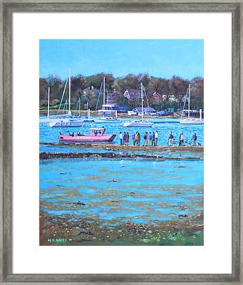 Pink Ferry On The River Hamble Framed Print