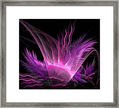 Pink Flower And Plants Framed Print by Bijan Studio