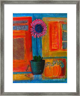 Framed Print featuring the painting Pink Flower by Patricia Januszkiewicz