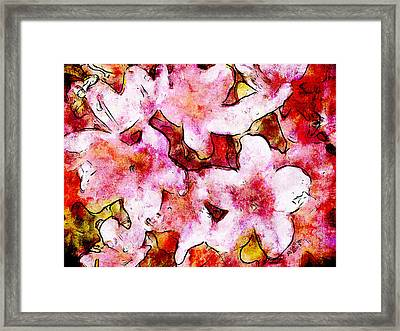 Framed Print featuring the painting Pink Flowers 2 by Greg Collins