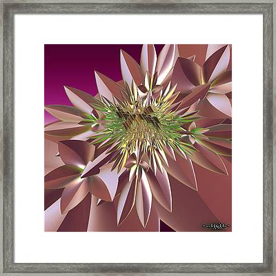Framed Print featuring the digital art Pink Flowers by Melissa Messick