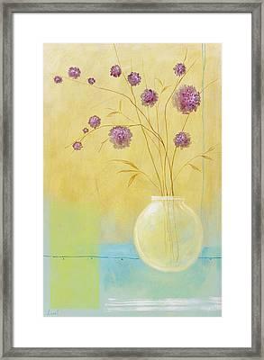 Pink Flowers Framed Print by Pablo Esteban