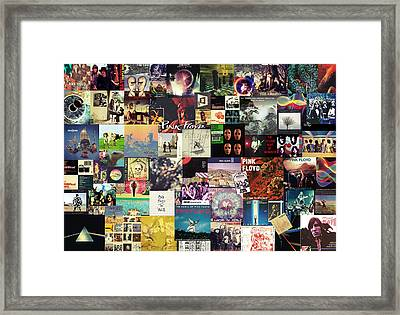 Pink Floyd Collage I Framed Print by Taylan Apukovska