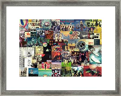 Pink Floyd Collage II Framed Print by Taylan Apukovska