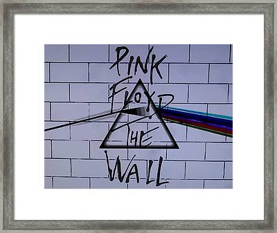Pink Floyd Poster Framed Print by Dan Sproul