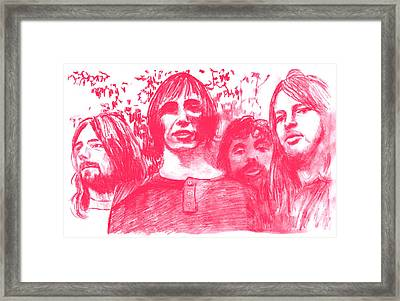 Pink Floyd Framed Print by Rodger Larson