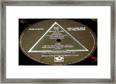 Pink Floyd - The Dark Side Of The Moon Side 1 Framed Print by Marcello Cicchini