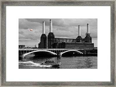 Pink Floyd's Pig At Battersea Framed Print