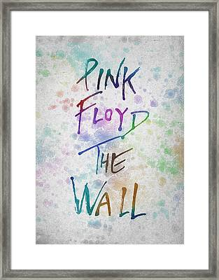Pink Floyed The Wall Framed Print by Aged Pixel