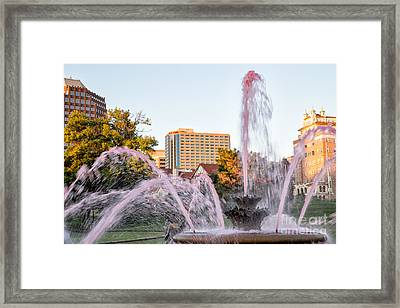 Pink Fountain For Breast Cancer Framed Print by Terri Morris