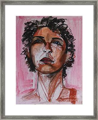 Framed Print featuring the drawing Pink  by Gabrielle Wilson-Sealy