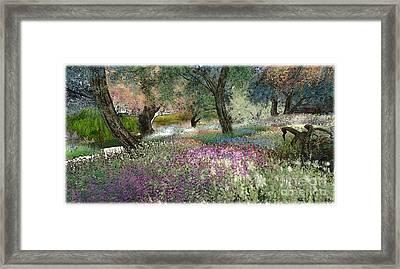 Pink Garden Framed Print