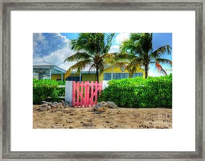 Pink Gate Framed Print by Debbi Granruth