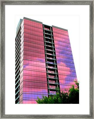 Pink Glass Buildings Can Be Pretty Framed Print by Randall Weidner