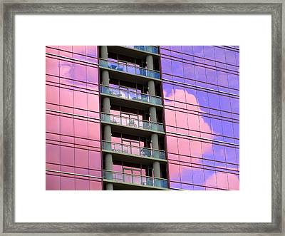 Pink Glass Clouds Framed Print by Randall Weidner