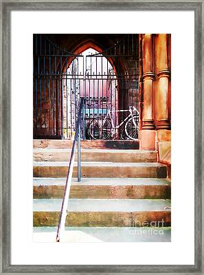 Pink Goes To Church Framed Print