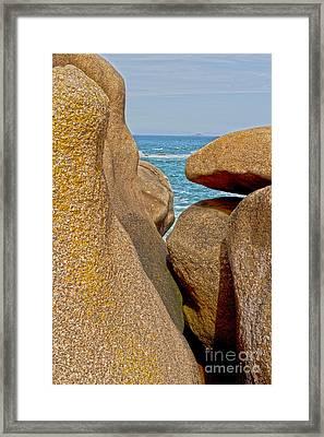 Pink Granite Formation Framed Print by Heiko Koehrer-Wagner