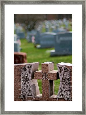 Pink Granite Tombstone Framed Print by Amy Cicconi