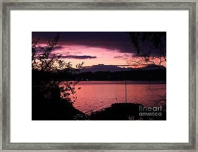 Pink Grapefruit Colored Sunset Framed Print by Kym Backland