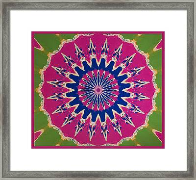 Pink Green Blue Abstract Framed Print