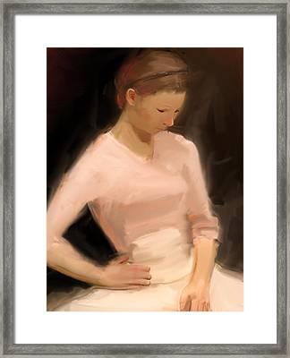 Pink Framed Print by H James Hoff