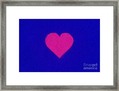 Pink Heart Framed Print by Tim Gainey