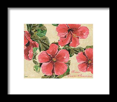 Hibiscus Flower Framed Prints