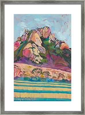 Pink Hollister Peak Framed Print