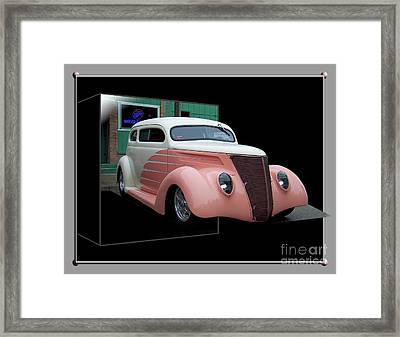 Pink Hot Rod 01 Framed Print by Thomas Woolworth