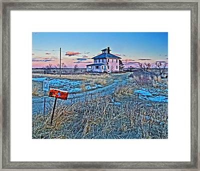 Pink House 001 Framed Print
