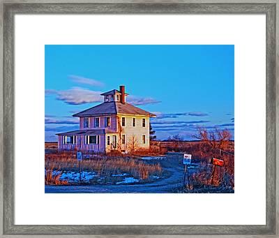 Pink House 002 Framed Print