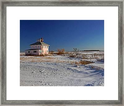 Pink House 003 Framed Print