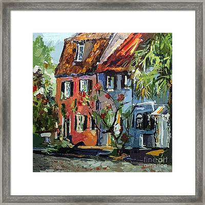 Pink House On Chalmers Street Charleston South Carolina Framed Print