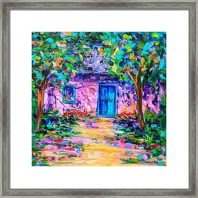 Pink House Framed Print