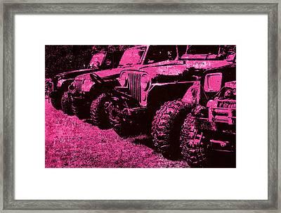 Pink Hues Sticks And Stones... Won't Break My Bones  Framed Print
