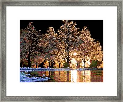 Pink Ice Framed Print by Christopher Hignite