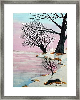 Pink Ice Framed Print by Jack G  Brauer