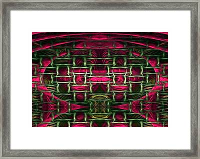 Framed Print featuring the painting Pink Illusion by Rafael Salazar