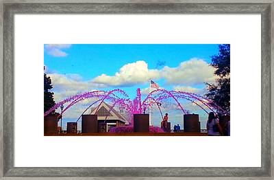 Framed Print featuring the photograph Pink Inspiration For The Cure by Joetta Beauford
