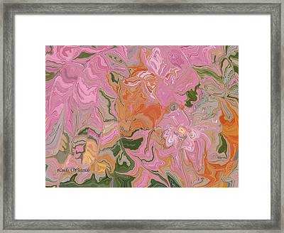 Pink Jungle Framed Print