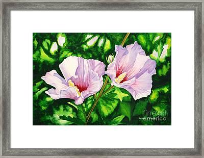 Pink Ladies Framed Print