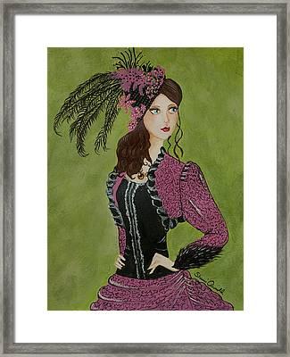 Pink Lady Framed Print by Sherri Arnold