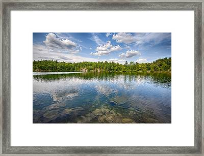 Pink Lake Framed Print