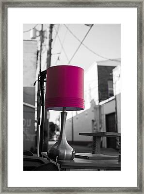 Pink Lamp In The Trash Framed Print